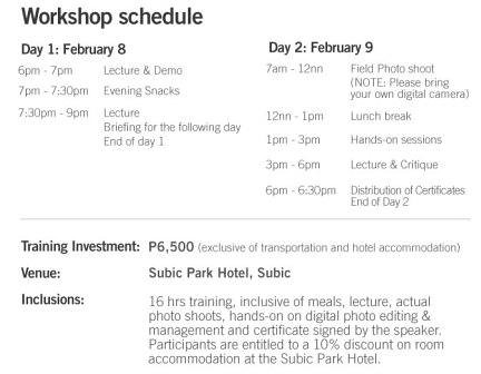 Gunther Deichmann Travel Photography Workshop Schedule