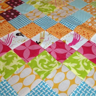 #scrappytripalong baby quilt ready to be basted!