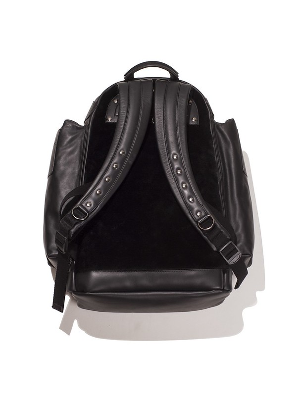 GIVENCHY LEATHER AND SHEARLING BACKPACK, (BLACK) RSVP