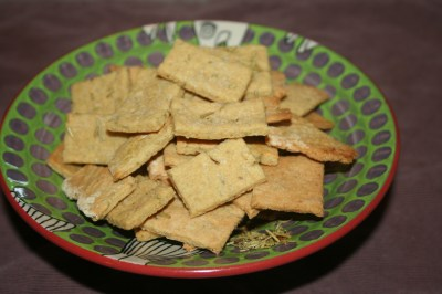 Gluten Free Rosemary Crackers