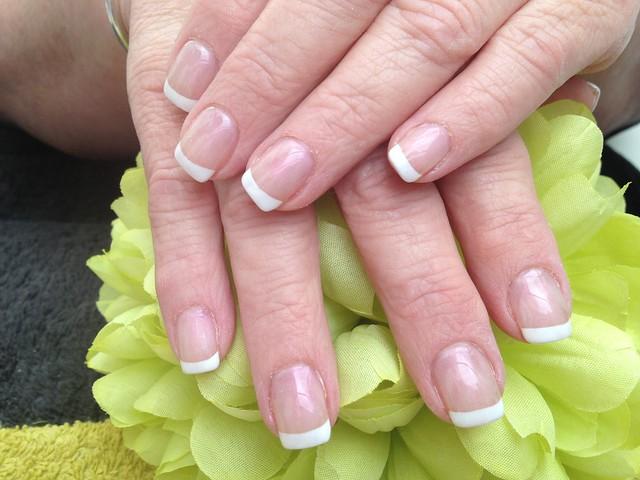 Acrylic Nails With French Polish Flickr Photo Sharing