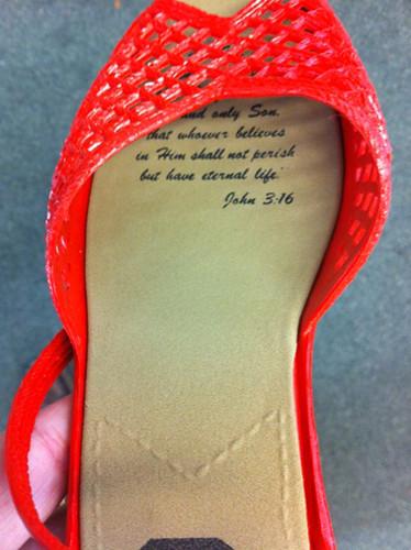Scripture shoes