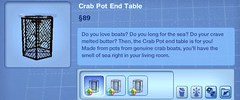 Crab Pot End Table