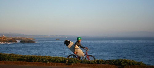 Cyclists on West Cliff Drive
