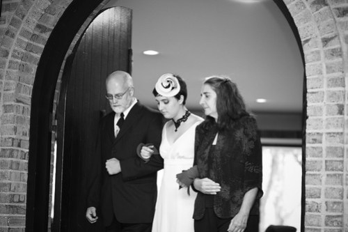Entering the ceremony