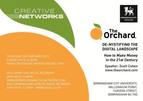 Creative Networks, Birmingham, THUR 28 FEBRUARY 2013