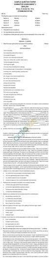 CBSE Board Exam 2013 Sample Papers (SA2) Class X - English Communicative