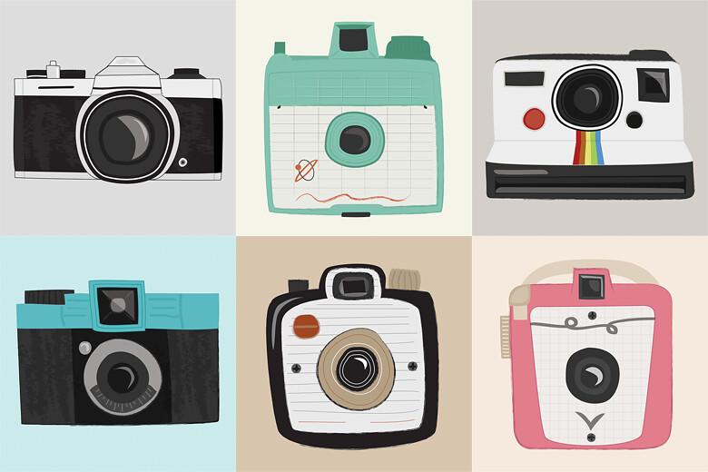 vintage camera prints