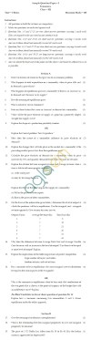 CBSE Board Exam Sample Question Papers Class XII - Economics