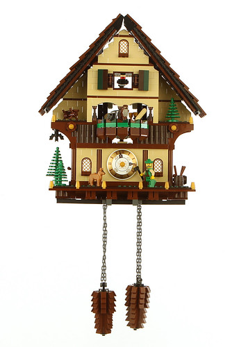 A lego cuckoo clock the brothers brick lego blog How to make a cuckoo clock