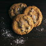Salted &amp; Stuffed Chocolate Chip Cookies