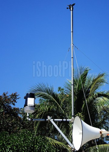 The weather station's devices installed at the rooftop of Anvaya Cove Beach and Nature Club in Bataan.