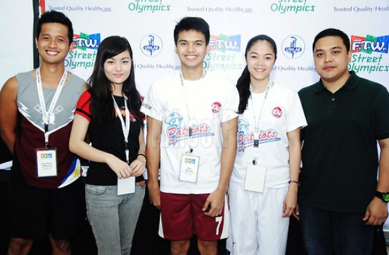 (From left to right) The Unilab Fit To Win Youth Club Ambassadors namely, Jonathan Albaniel; Angelique Chua; Jolo Durian; Sachie Yap; and Unilab FTW Project Lead, Barry Barrientos.