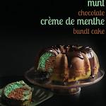 """""""Mint Chocolate Crème de Menthe Bundt Cake"""