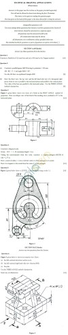 ICSE 2013 Class X Sample Question Papers – Technical Drawing Applications