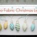 Retro Fabric Christmas Lights
