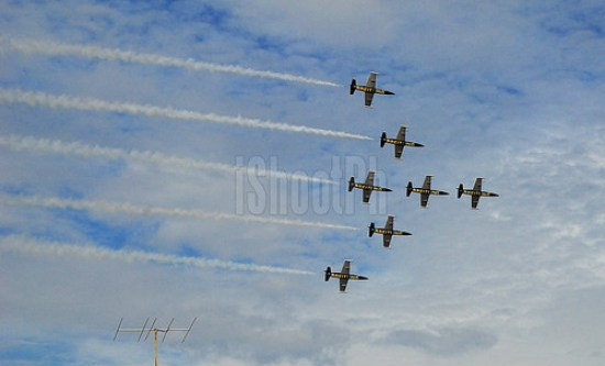 Breitling Jet Team is the largest civilian aerobatic display team in Europe.