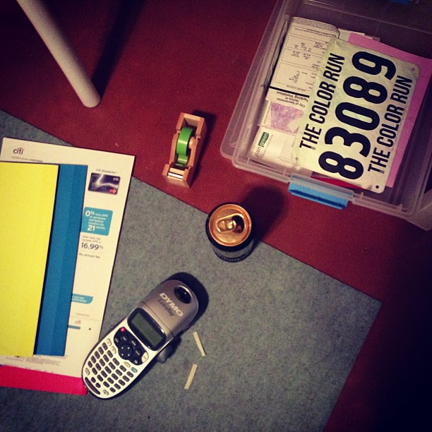 Ingredients for a hecka sweet Friday night - Guinness, label maker and washi tape. #organizeordie #nothingbettertodo