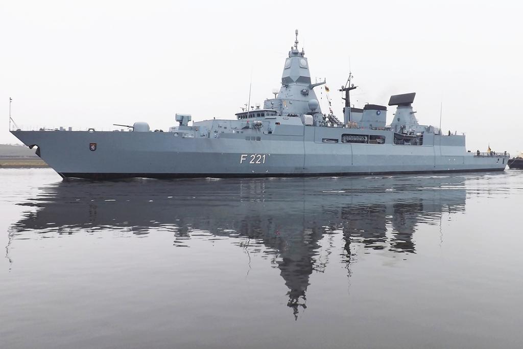 German Sachsen class frigate Hessen Built at Blohm und Voss - us navy address for resume