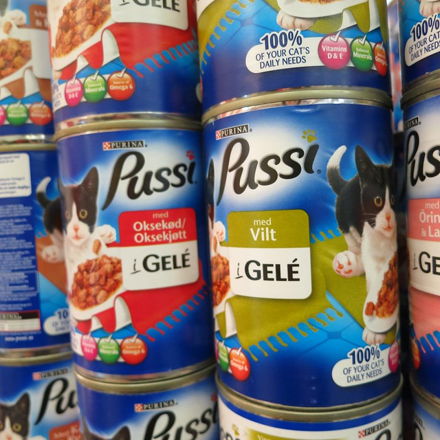 Pussi canned cat food, Iceland 2013