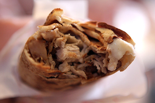 chicken sandwich with toum