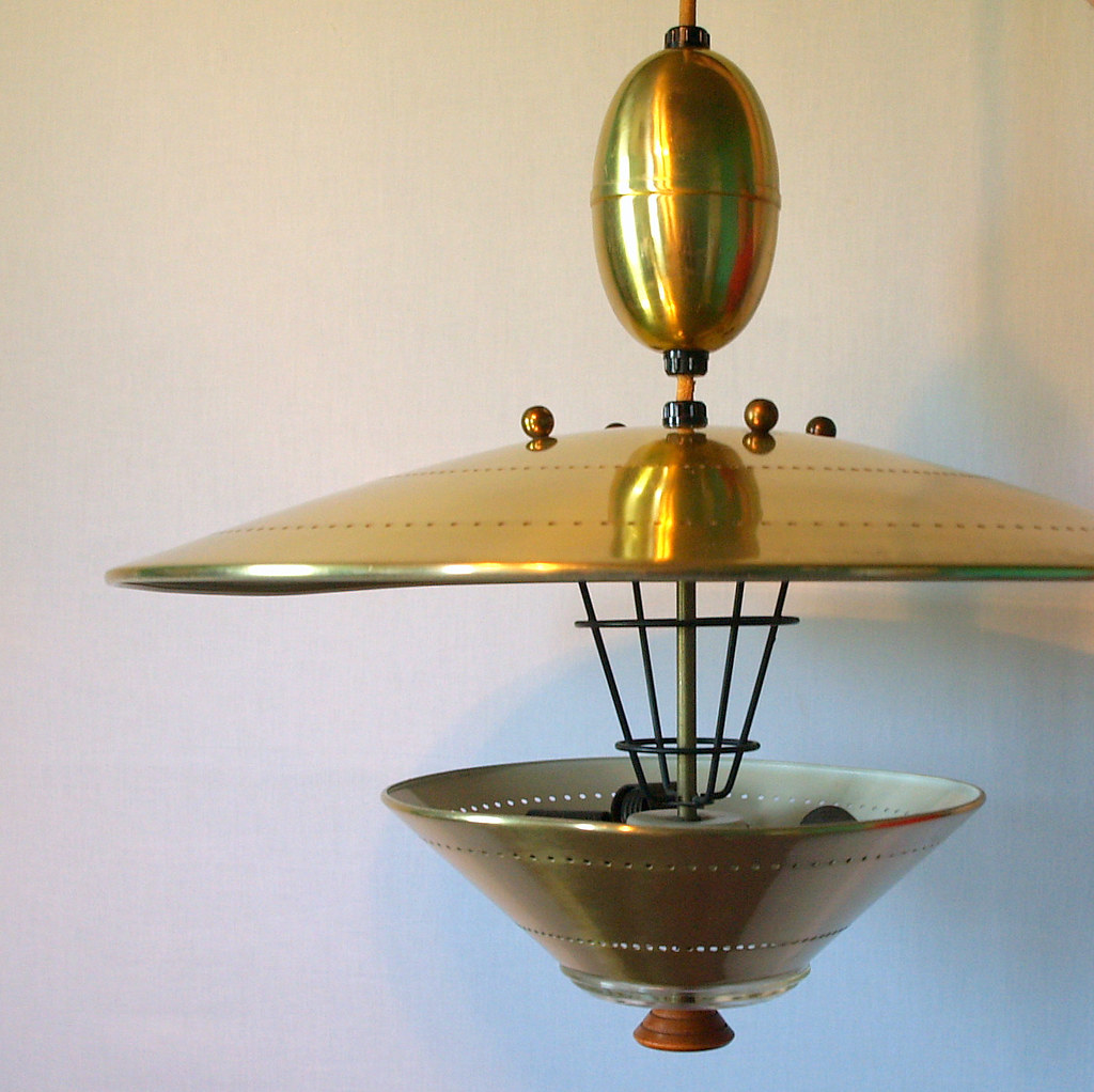 Modern Vintage Lights Ufo Pendant Lighting Vintage Atomic Flying Saucer Pull
