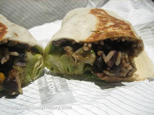 Taco Bell Cantina Burrito Closeup