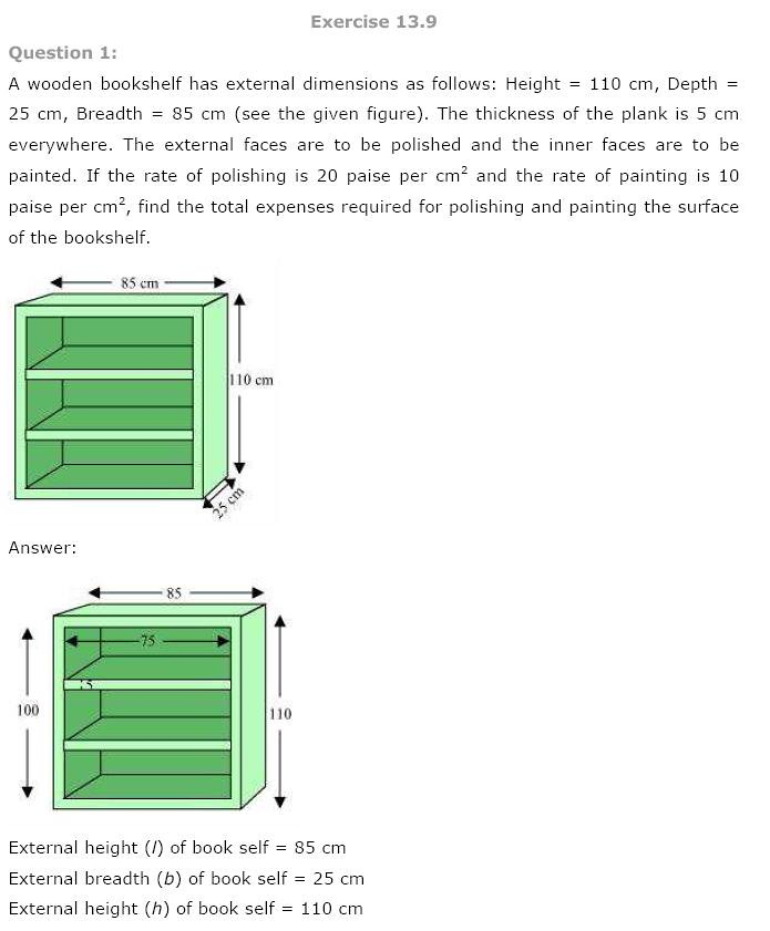 NCERT Solutions for Class 9th Maths: Chapter 13 Surface Areas and Volumes Image by AglaSem