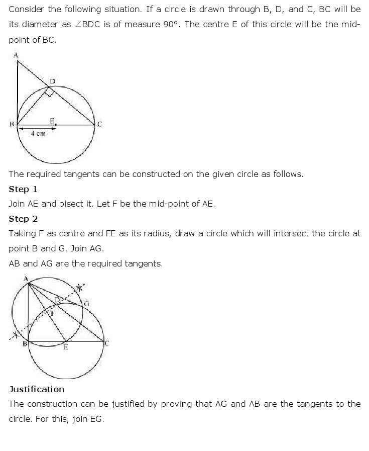 NCERT Solutions for Class 10th Maths: Chapter 11   Constructions Image by AglaSem