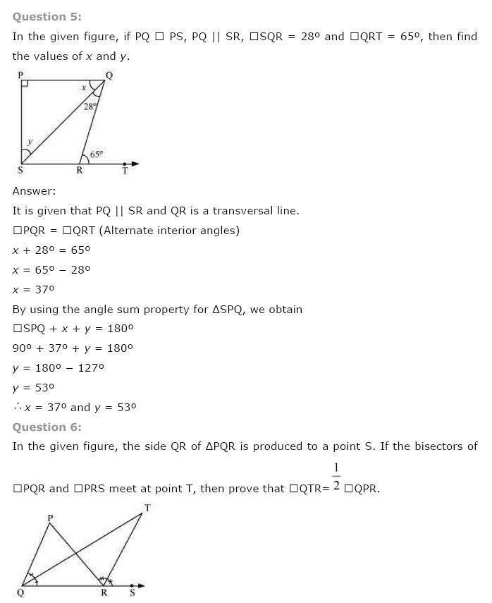 NCERT Solutions for Class 9th Maths: Chapter 6 Lines and Angles Image by AglaSem