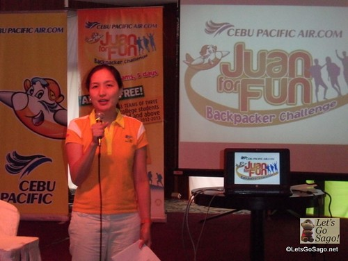 Candice Iyog of Cebu Pacific Presents the 5 Student Backpacker Teams