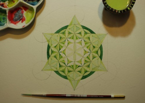 Metatron's Cube, in Green and in Progress