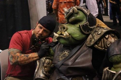 Gamorrean Guard tattoo - Star Wars Celebration VI