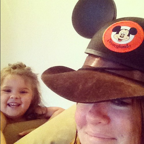 Styled into a Mickey Mouse Cowboy.