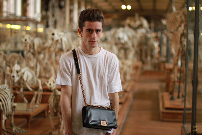 Theysken's Theory jumper, h&m jeans, davidelfin tee and Chanel bag