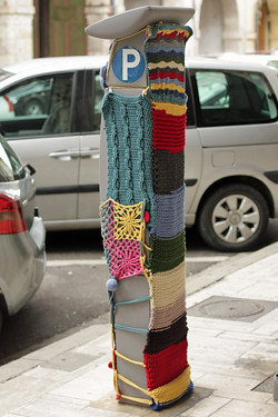 knit parking meter cover