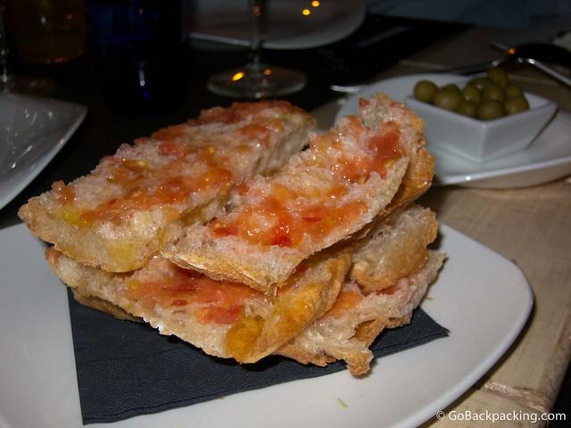 Spanish tomato toast