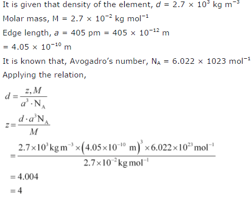 NCERT Solutions for Class 12th Chemistry Chapter 1 The Solid State