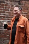 Robert Chaplin and a pint at The Irish Heather