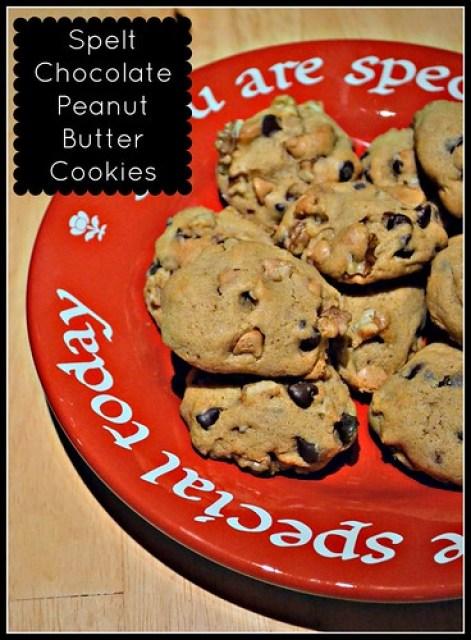 Spelt Chocolate Peanut Butter Cookies