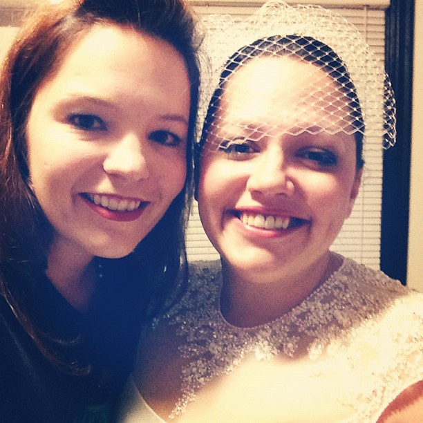 Matron of Honor (me!) and Bride @2princessmama