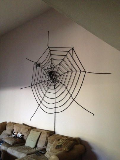 Giant spider and web
