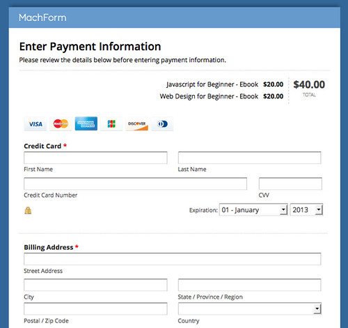 Accept Credit Card Payments on Your Forms using Stripe! HTML Form