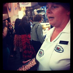 Tasting and talking about Duck Galantine.  #edb2012