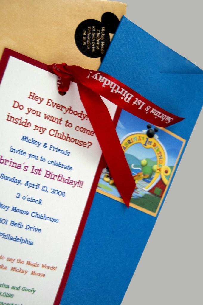 Disney 1st Birthday Invitation Mickey Mouse Clubhouse Desi\u2026 Flickr