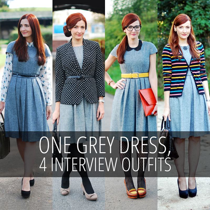4 Ways to Wear a Grey Dress Job Interview Outfits - Not Dressed As Lamb
