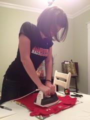 Jess ironing