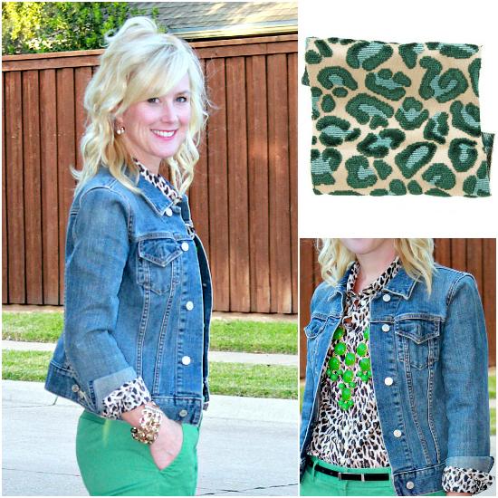 green & leopard
