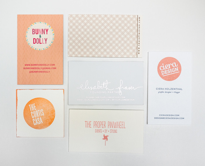 Alt Summit Business Cards 2013 - Coral and Peach