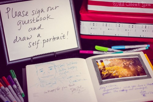self-portrait guestbook